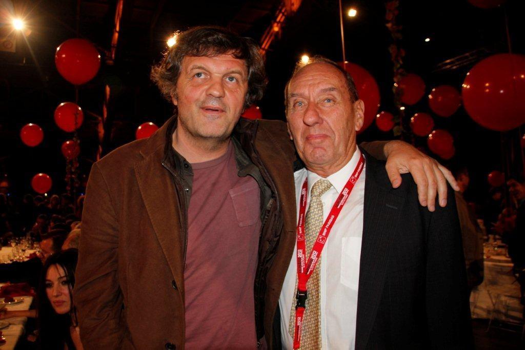 Max Lefrancq-Lumière et Emir Kusturica - Festival Lumière 2012 - Lyon © Anik COUBLE