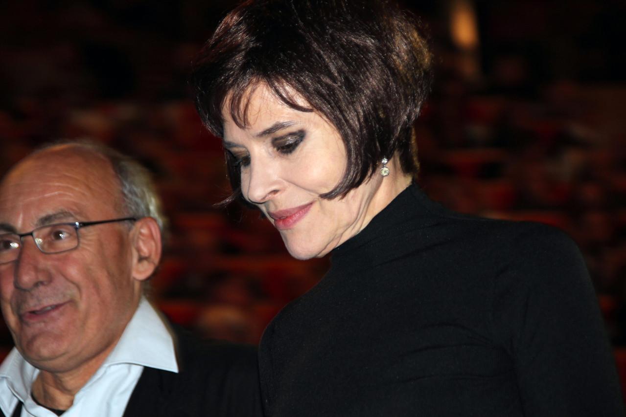 Fanny Ardant, lors de la remise du Prix Lumière à Gérard Depardieu - Festival Lumière 2011 - Lyon - Photo © Anik COUBLE