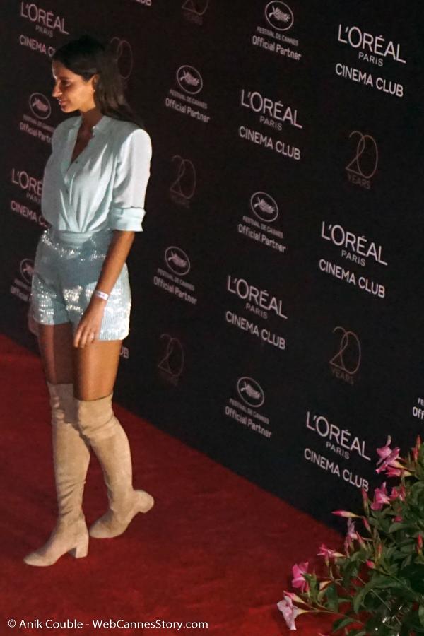 Malika Menard, lors de la soirée L'Oréal Paris, célébrant leur 20 ans de partenariat avec le Festival de Cannes - Festival de Cannes 2017 - Photo © Anik Couble