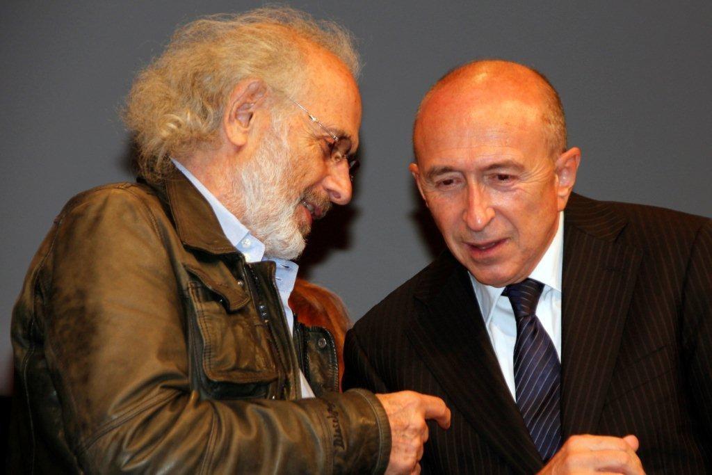 Jerry Schatzberg et Gérard Collomb - Festival Lumière 2012 - Lyon - Photo © Anik Couble