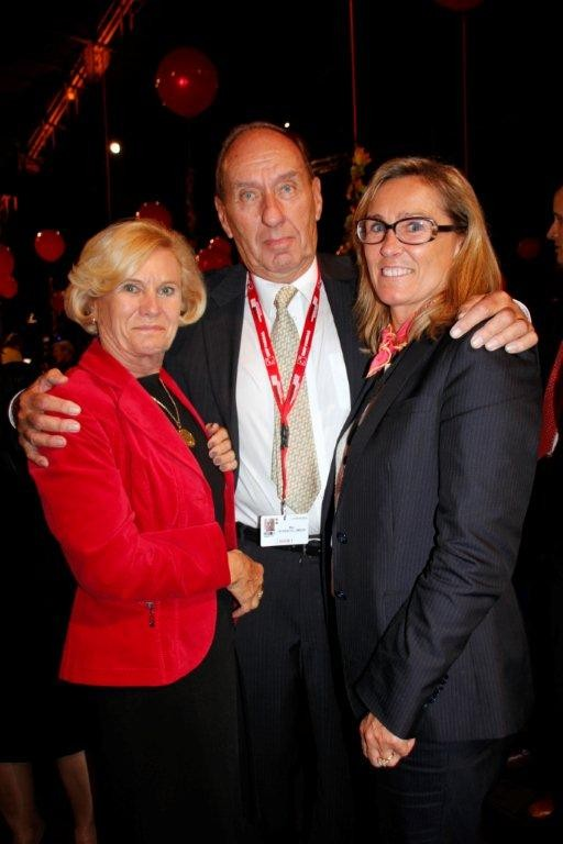 Max Lefrancq-Lumière, son épouse Michèle et leur fille - Festival Lumière 2012 - Lyon © Anik COUBLE