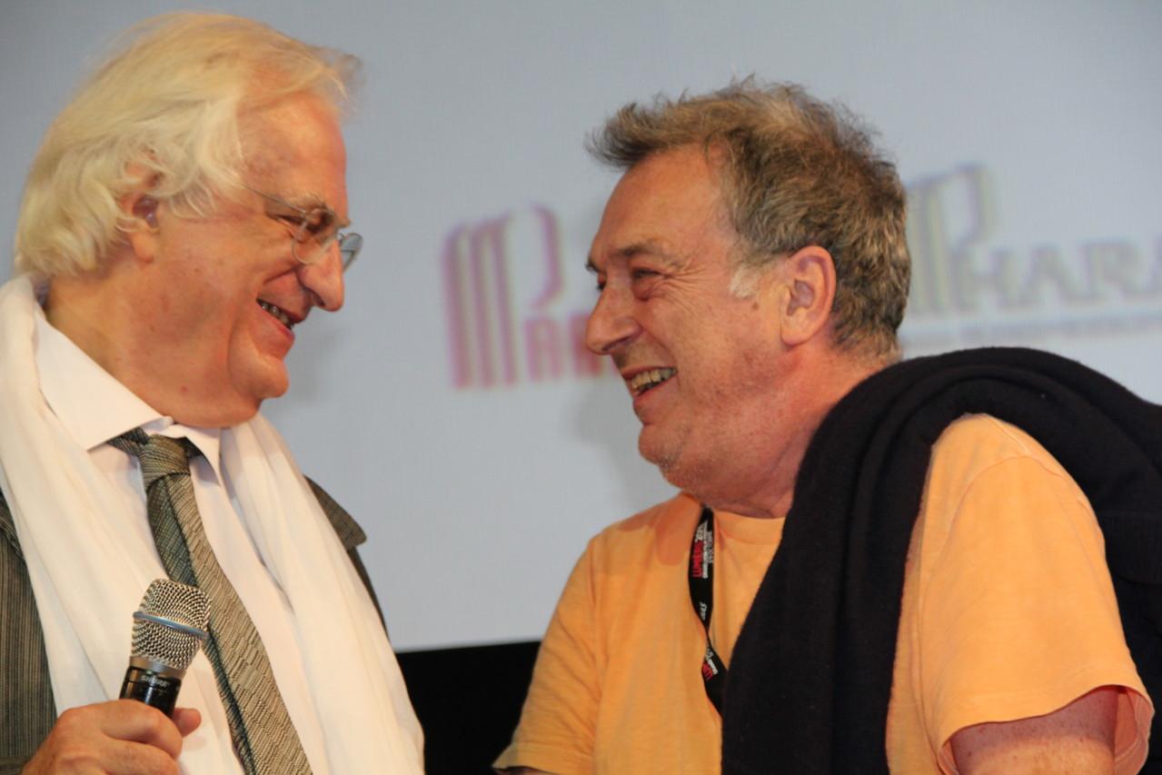 Bertrand Tavernier et Stephen Frears - Festival Lumière 2011 - Lyon - Photo © Anik COUBLE