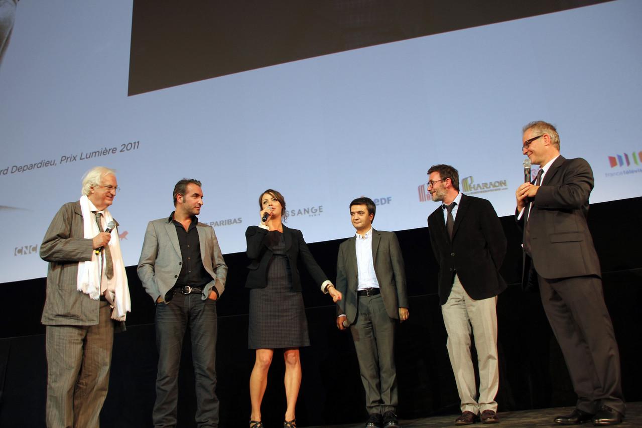 """L'équipe du film """"The Artist""""- Festival Lumière 2011 - Lyon - Photo © Anik COUBLE"""