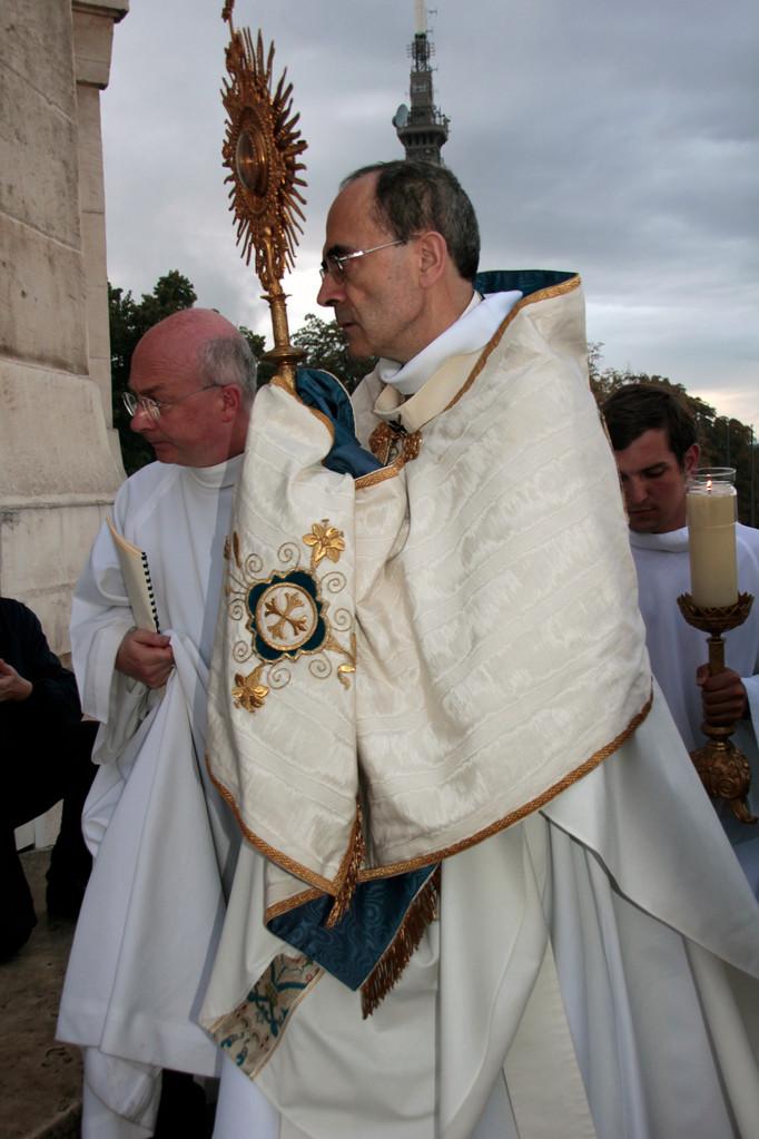 Le Cardinal Philippe Barbarin, archevêque de Lyon, lors du renouvellement du vœu des Echevins - Basilique de Fourvière - Lyon - 08 Sept 2013 © Anik COUBLE