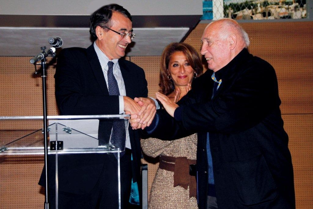 Jean-Jack QUEYRANNE, Farida Boudaoud et Raymond Depardon - Lyon - Novembre 2012 © Anik COUBLE