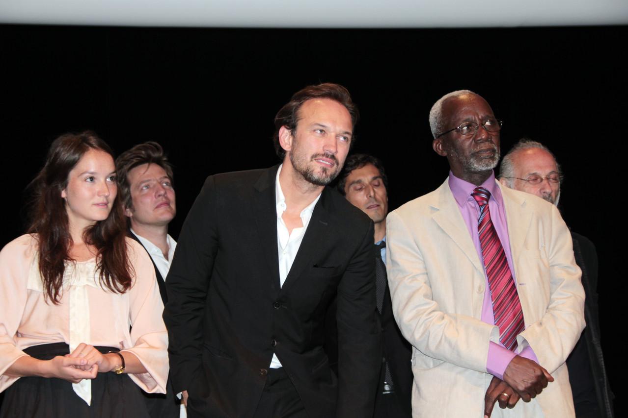 Les nombreux invités du Festival Lumière 2011, dont Vincent Perez, au centre - Lyon - Photo © Anik COUBLE