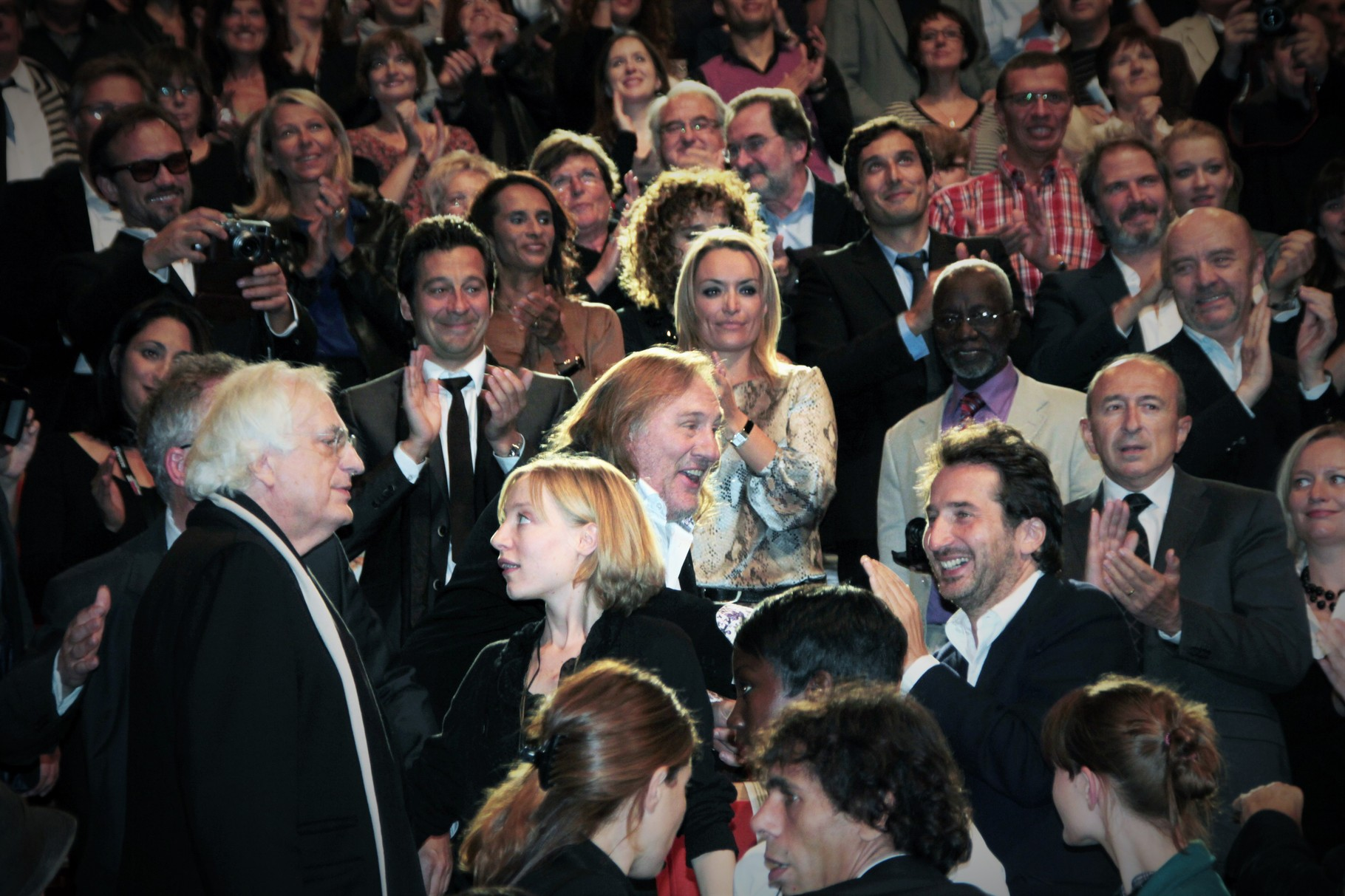 Gérard Depardieu, parmi les invités, lors de la  remise du Prix Lumière à Gérard Depardieu - Festival Lumière 2011 - Lyon - Photo © Anik COUBLE