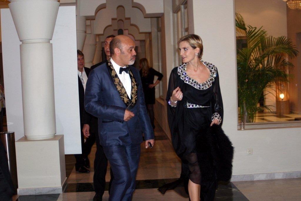 Christian Louboutin et Melita Toscan Du Plantier, Directrice du Festival - Festival de Marrakech 2010 © Anik COUBLE