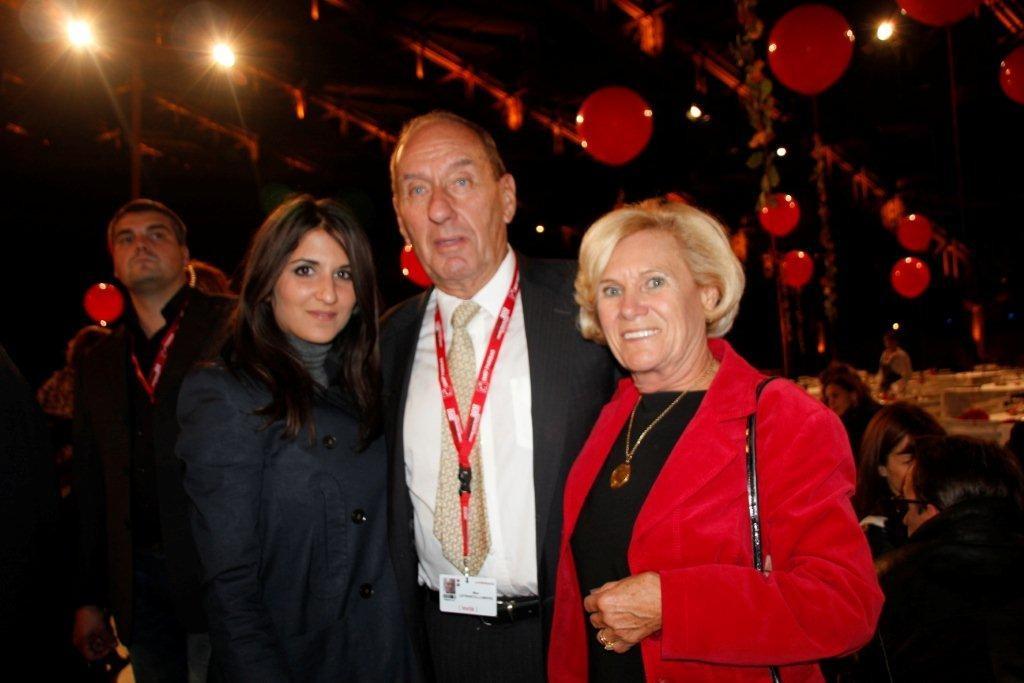 Max Lefrancq-Lumière, son épouse Michèle et Géraldine Nakache- Festival Lumière 2012 - Lyon © Anik COUBLE
