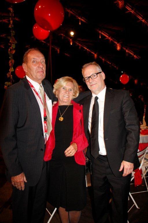 Max Lefrancq-Lumière, son épouse Michèle et Thierry Fremaux - Festival Lumière 2012 - Lyon © Anik COUBLE