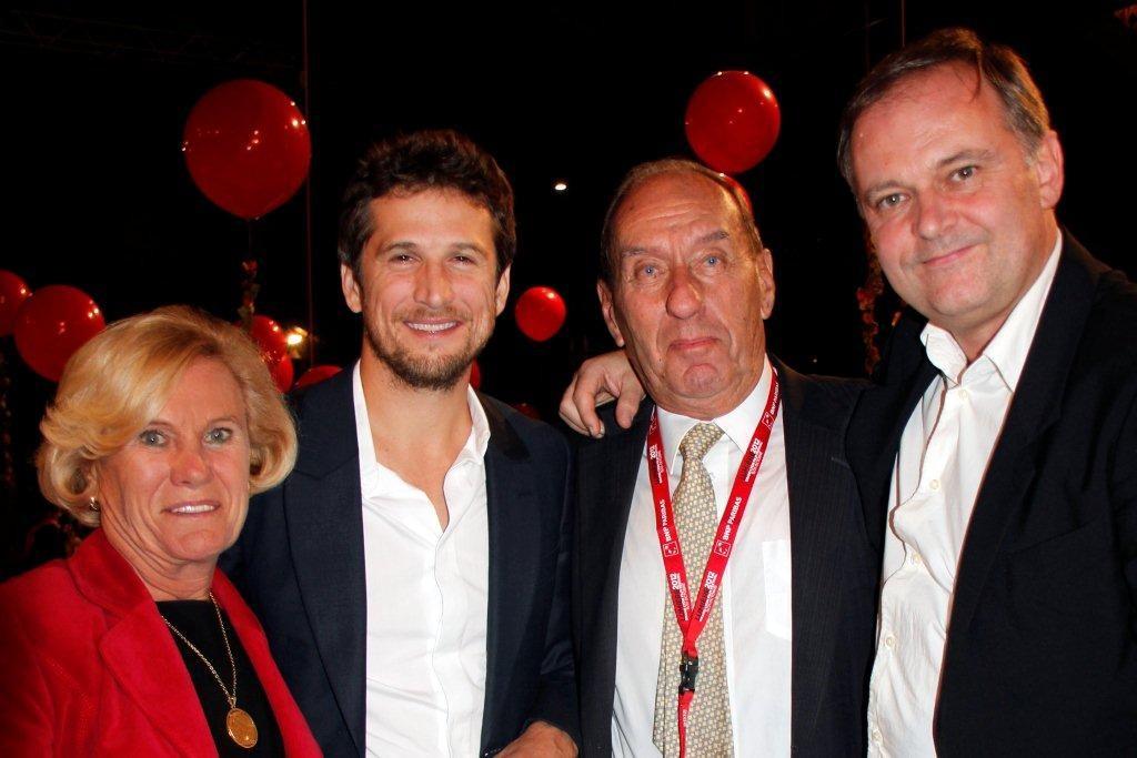 Max Lefrancq Lumiere, son épouse Michèle, Guillaume Canet et Christian Carion - Festival Lumière 2012 - Lyon © Anik COUBLE