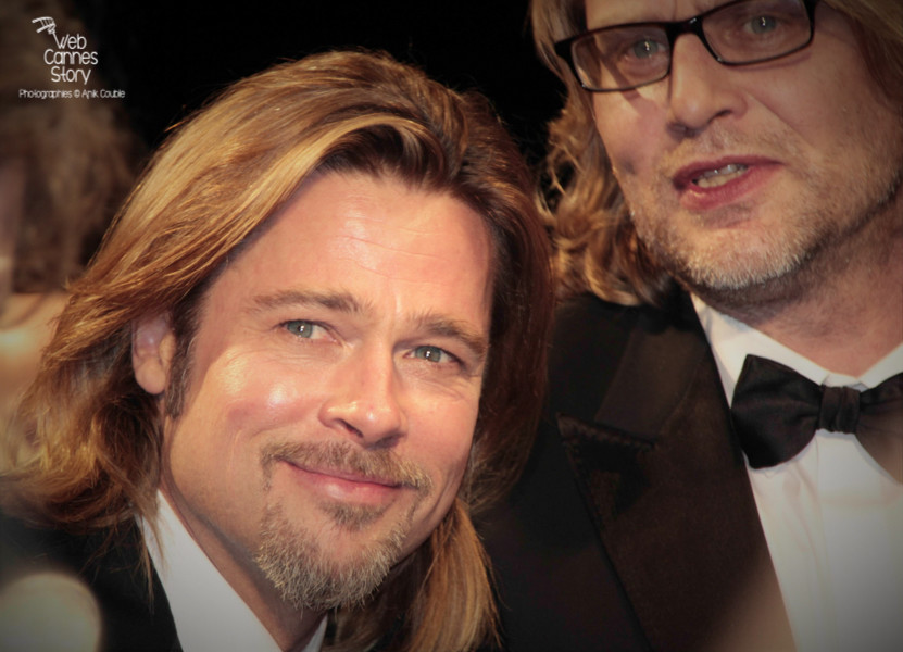 "Brad Pitt et Andrew Dominik, lors de la projection  de ""Cogan - La mort en douce""  d'Andrew Dominik - Festival de Cannes 2012 - Photo © Anik COUBLE"