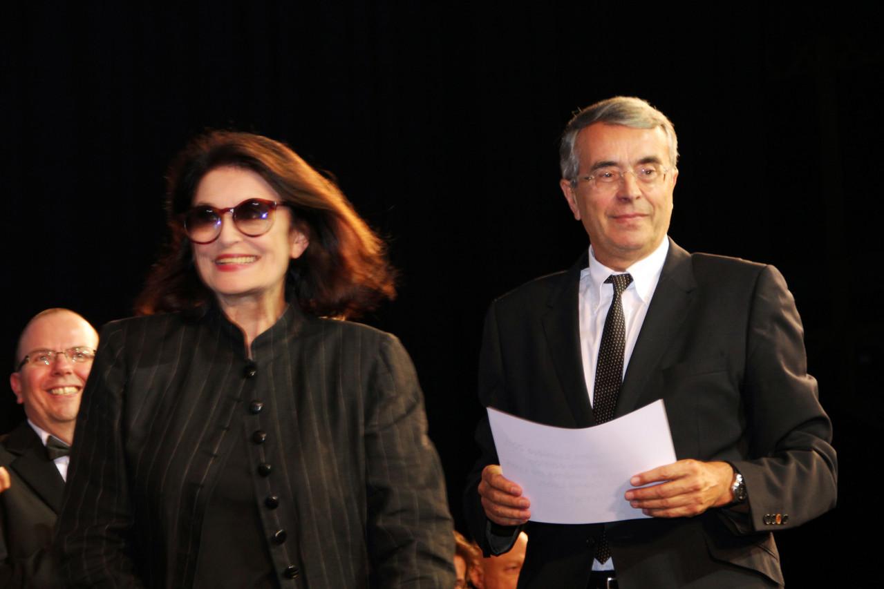 Anouk Aimé et Jean-Jack Queyranne - Festival Lumière 2011 - Lyon - Photo © Anik COUBLE
