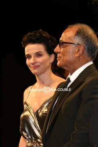 Juliette Binoche et Abbas Kiarostami - Festival de Cannes 2010 © Anik COUBLE