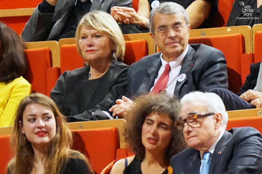 Jean-Jack Queyranne et son épouse Elisabeth en compagnie de Martin Scorsese - Festival Lumière - Lyon - Oct 2015 - Photo © Anik COUBLE