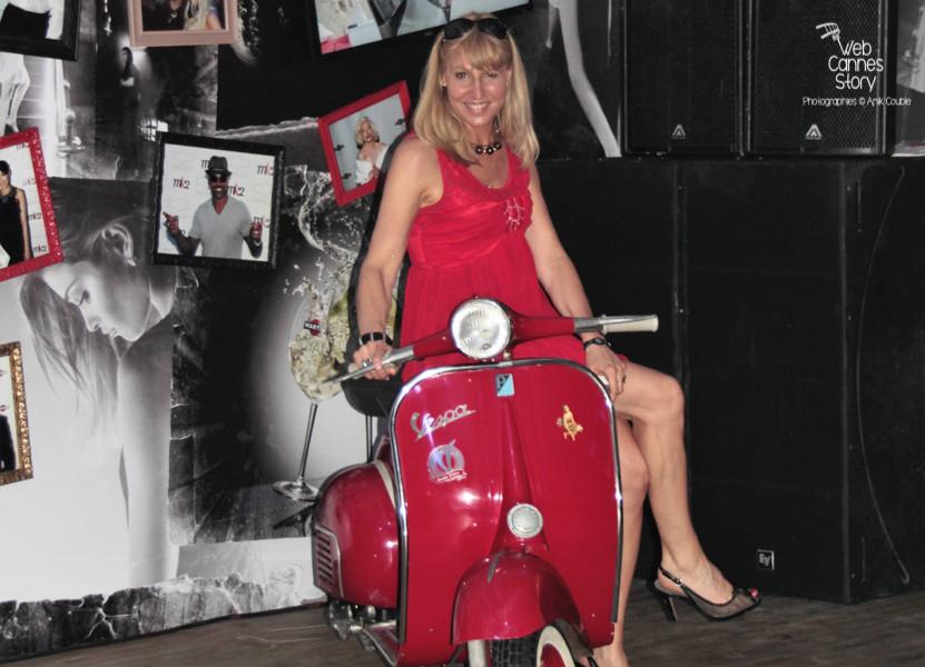 Patricia Vermare, (Discotèque L'imprévu à Lyon) de passage à  la Terrazza Martini à Cannes - Festival de Cannes 2012 - Photo  © Anik Couble
