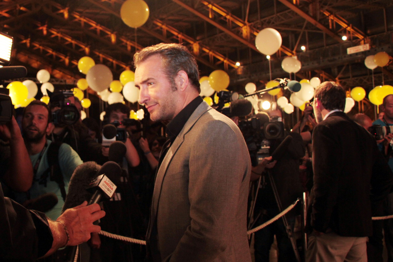 Jean Dujardin en interview - Festival Lumière 2011 - Lyon - Photo © Anik COUBLE