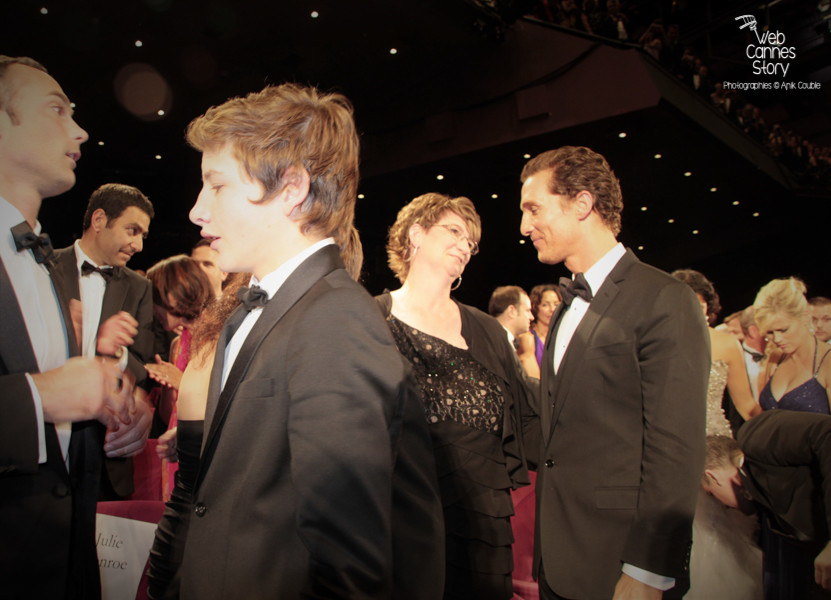 "Matthew McConaughey et Tye Sheridan, lors de la projection du film ""Mud"" de Jeff Nichols - Festival de Cannes 2012 - Photo  © Anik Couble"