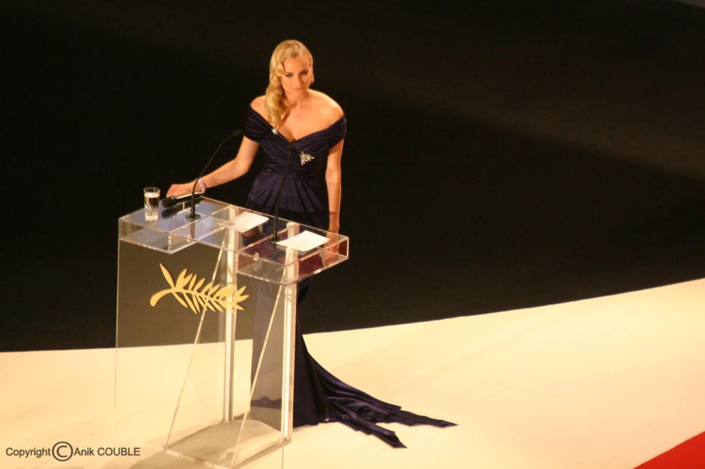 Diane Kruger en maîtresse de cérémonie pour la clôturede  2007 / Photo : Anik Couble