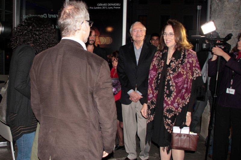 Roger Corman et sa femme Julie, accueillis par Thierry Fremaux - Festival Lumière 2011 - Lyon - Photo © Anik Couble