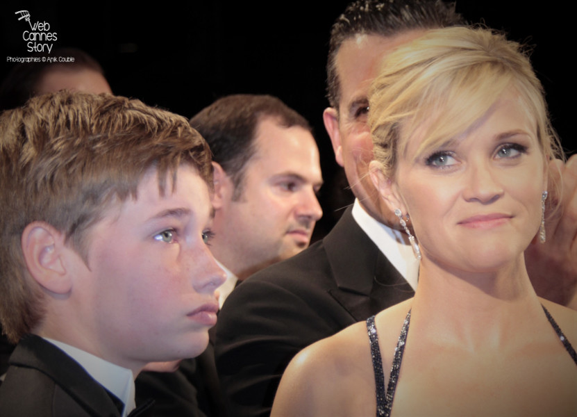"Reese Witherspoon et Jacob Lofland, lors de la projection du film ""Mud"" de Jeff Nichols - Festival de Cannes 2012 - Photo  © Anik Couble"