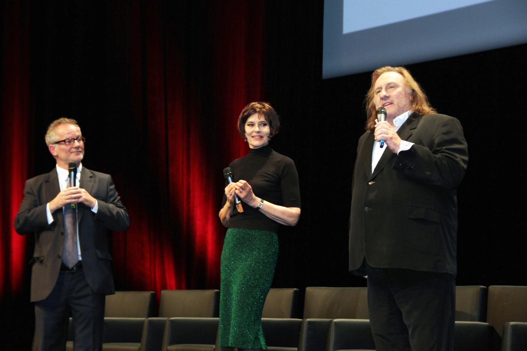 Gérard Depardieu, Fanny Ardant et Thierry Frémaux- Festival Lumière 2011 - Photo © Anik COUBLE