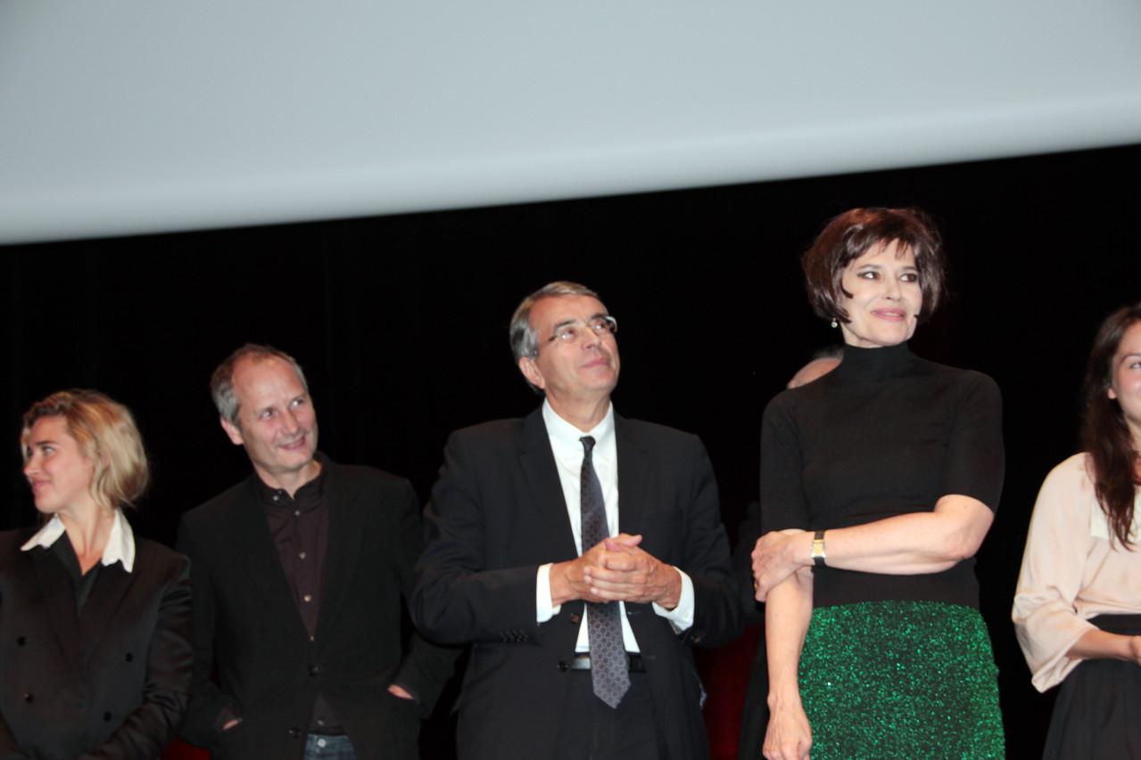 Gérard Depardieu, Jean-Jack Queyranne et Fanny Ardant - Festival Lumière 2011 - Lyon - Photo © Anik COUBLE