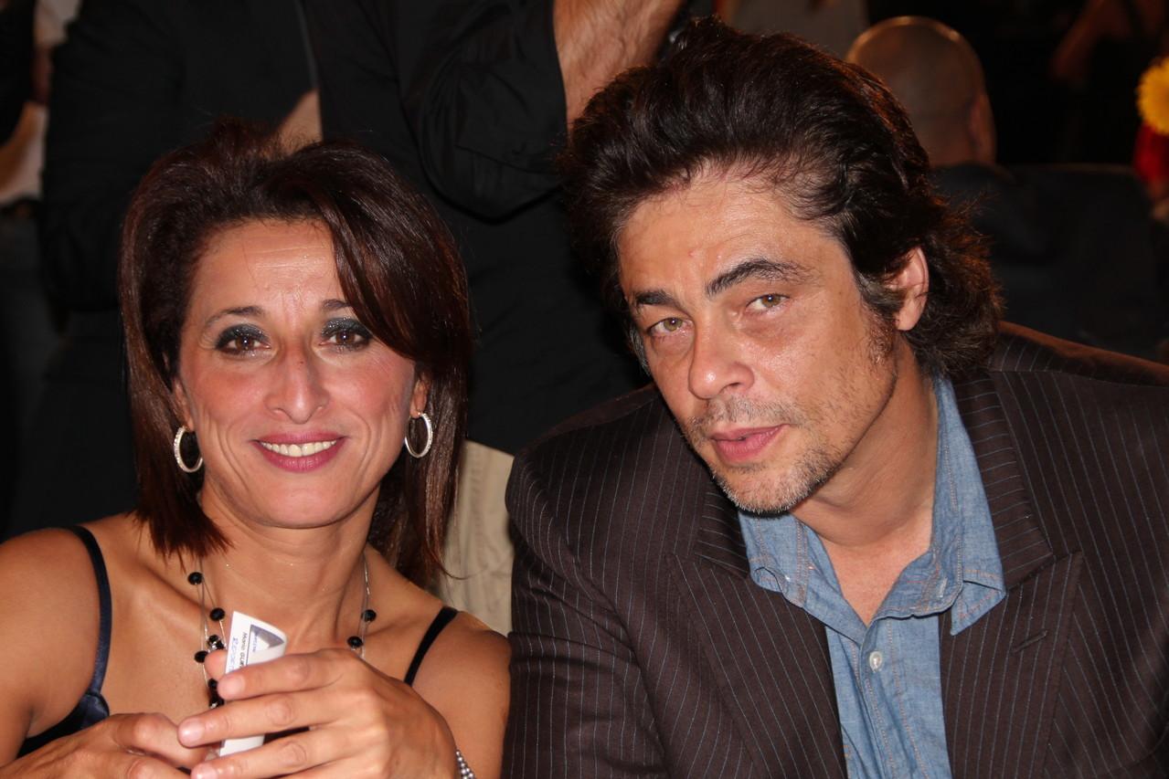 Farida Boudaoud et Benicio Del Toro - Festival Lumière 2011 - Lyon - Photo © Anik COUBLE