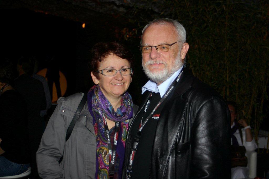 Fernand Berron et son épouse à la Plateforme - Festival  Lumière 2010 - Lyon - Photo © Anik COUBLE