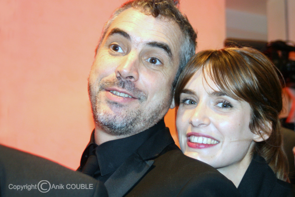 Alfonso Cuarón et son épouse 2008 / Photo : Anik Couble