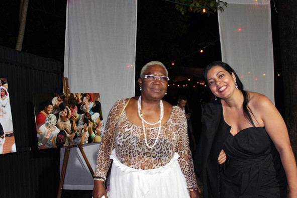 """Firmine Richard et une amie à la soirée du film """"La Source des Femmes"""" de Radu Mihaileanu"""" - Festival de Cannes 2011 - Photo © Anik COUBLE"""