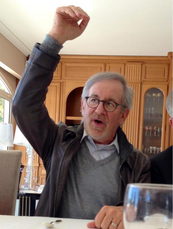 Steven Spielberg, en pleine délibération - Festival de Cannes 2013 © Gilles JACOB