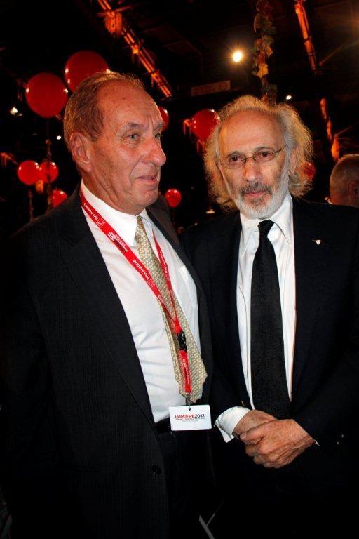 Max Lefrancq-Lumière et Jerry Schatzberg - Festival Lumière 2012 - Lyon © Anik COUBLE