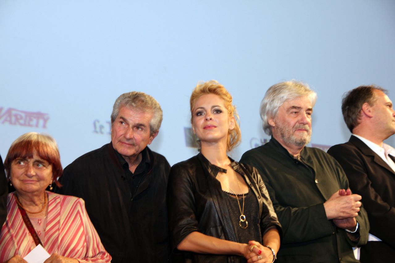 Claude Lelouch, Audrey Dana et Andrzej Zulawski - Festival Lumière 2011 - Lyon - Photo © Anik COUBLE