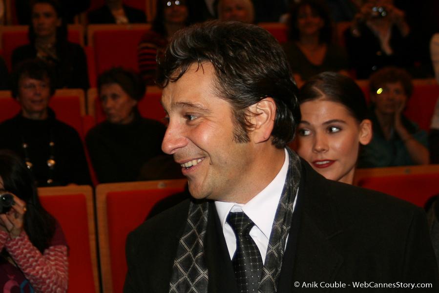 Arrivée de Laurent Gerra à l'Amphithéâtre, pour la remise du Prix Lumière, à Clint Eastwood - Festival Lumière 2009 - Lyon - Photo © Anik Couble