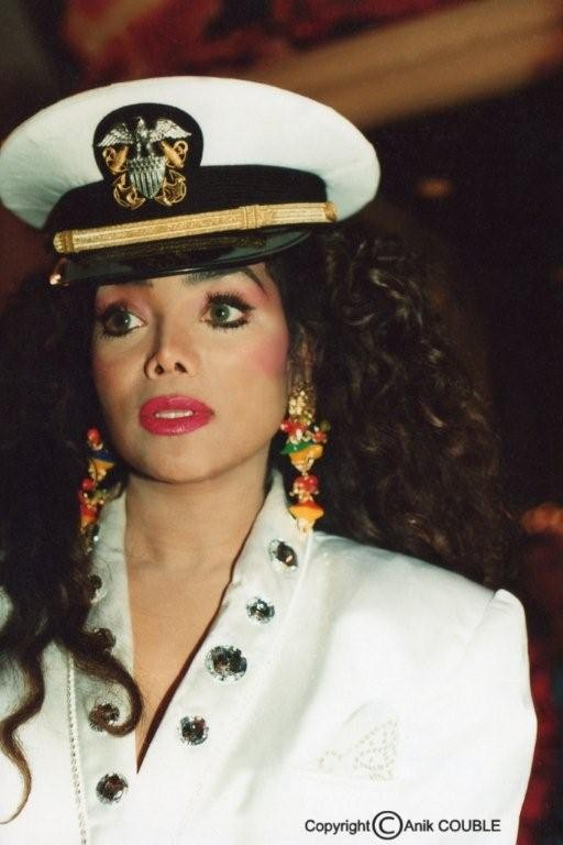 La Toya Jackson 1993  / Photo : Anik Couble