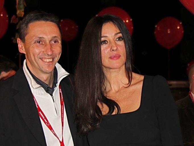 Stephane Janin et Monica Bellucci - diner d'ouverture - Festival Lumière 2012 - Lyon - Photo © Anik COUBLE