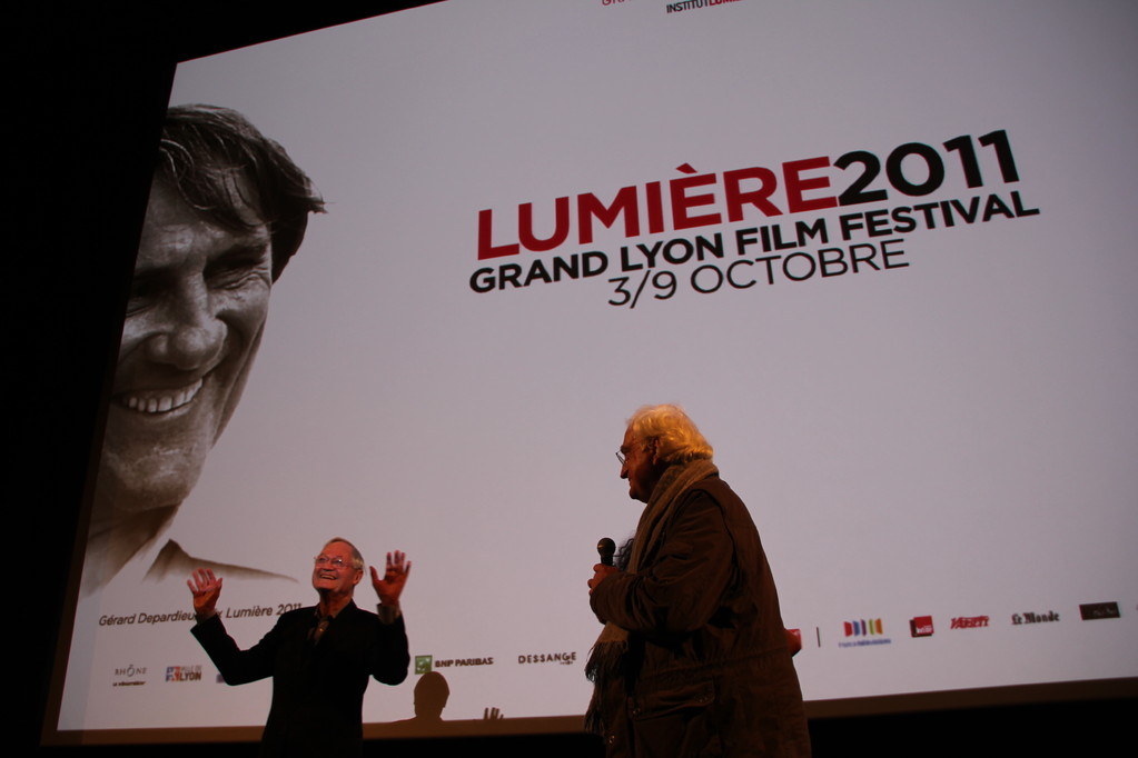 Roger Corman et Bertrand Tavernier - Festival Lumière 2011 - Lyon - Photo © Anik Couble