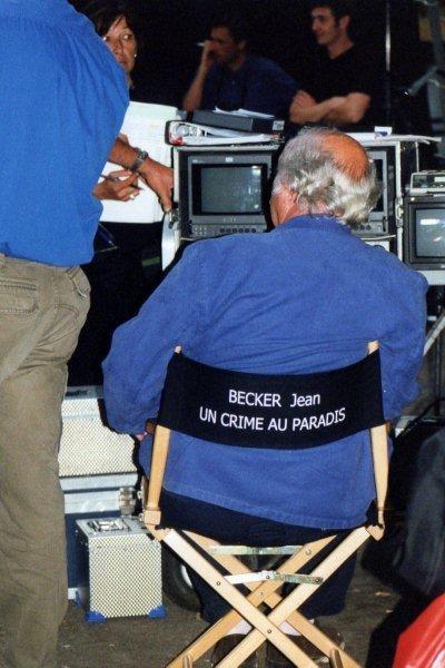 """Jean Becker sur le tournage de son  film """"Un Crime au Paradis"""" - Photo © Anik COUBLE"""