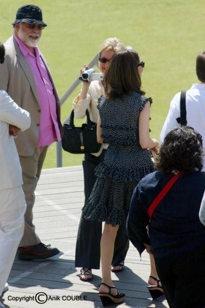 Famille Coppola : Francis, sa femme et Sofia sa fille 2006 / Photo : Anik Couble