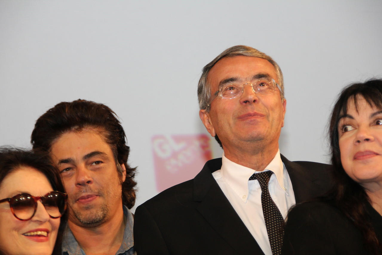 Benicio Del Toro et Jean-Jack Queyranne - Festival Lumière 2011 - Lyon - Photo © Anik COUBLE