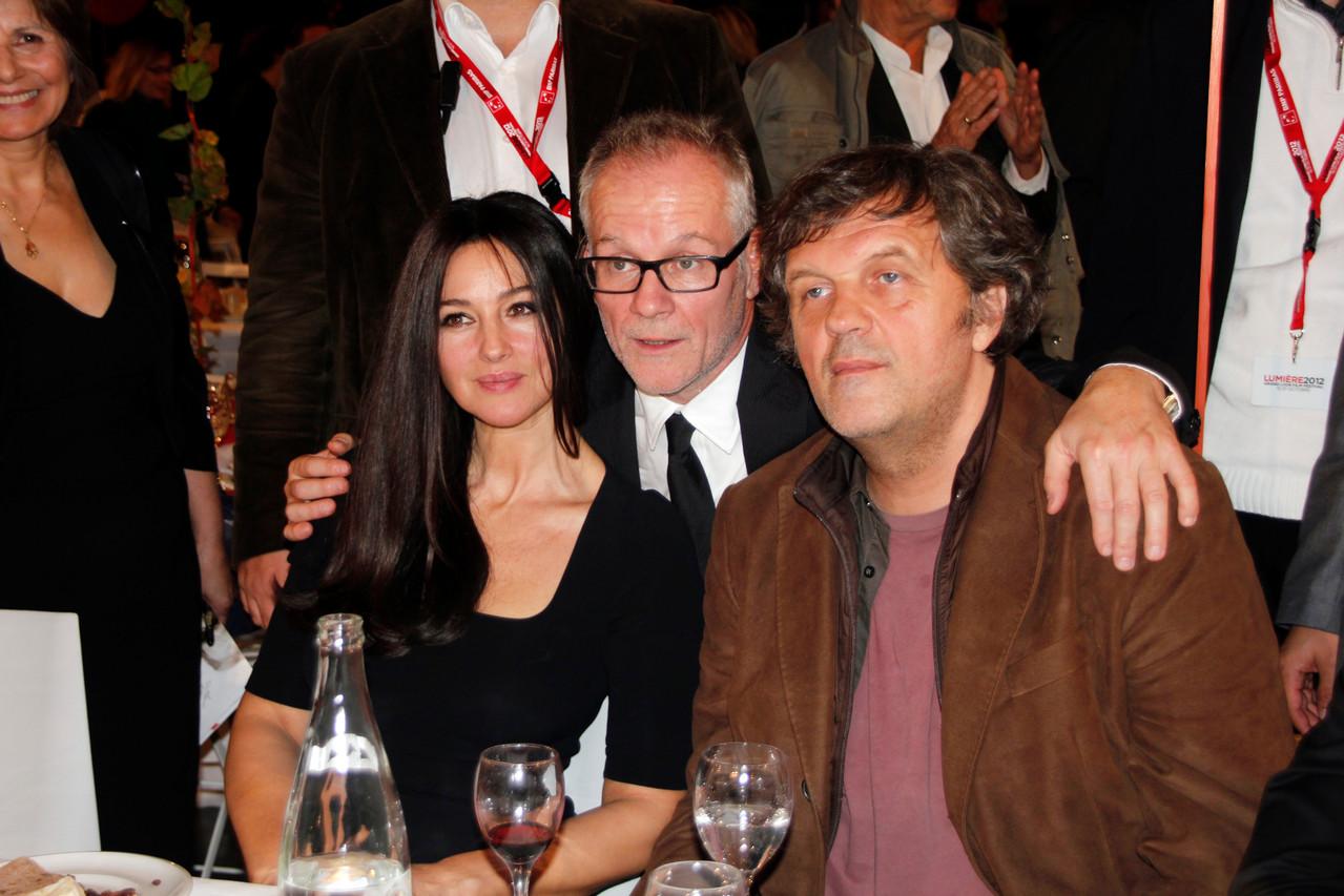 Monica Bellucci, Thierry Fremaux et Emir Kusturica  - Festival Lumière 2012 - Lyon - Photo © Anik COUBLE