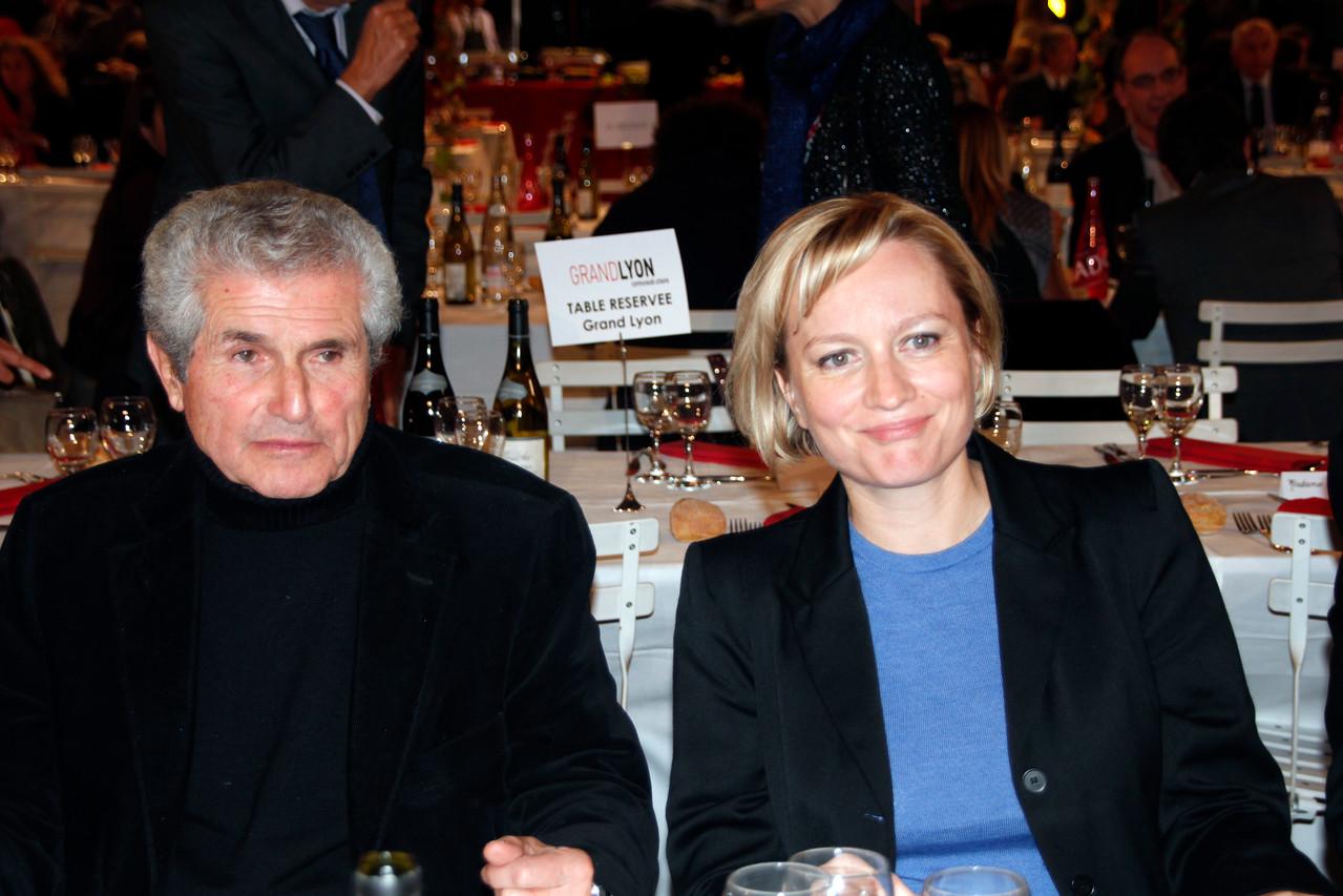 Claude Lellouch et Caroline Collomb - Festival Lumière 2012 - Lyon - Photo © Anik COUBLE