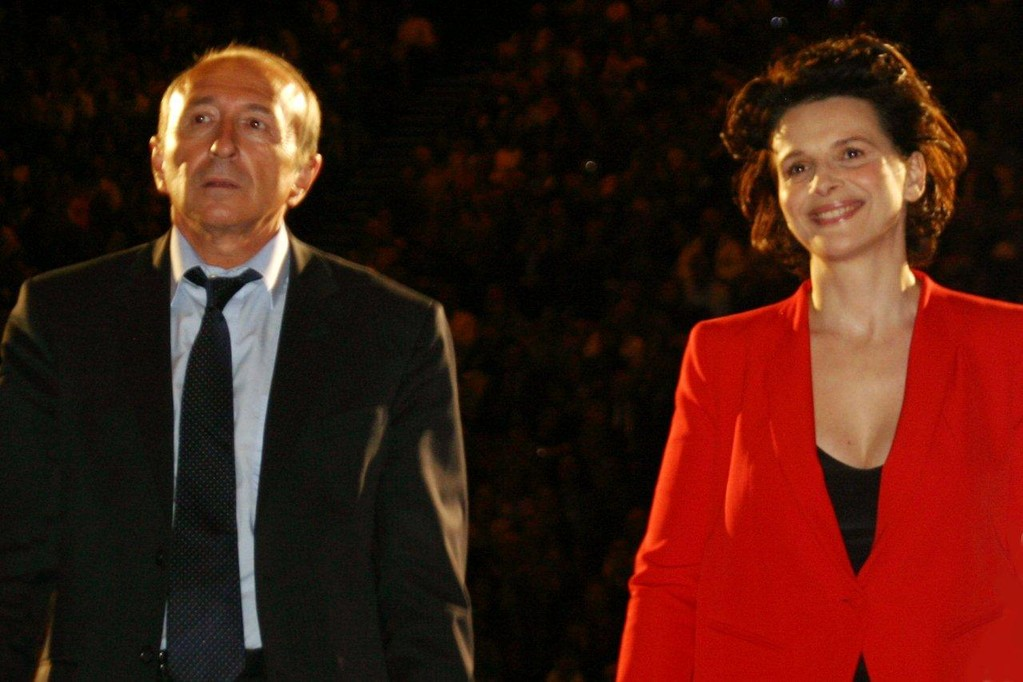 Gérard COLLONG et Juliette BINOCHE - Festival Lumière 2010 - Lyon - Photo © Anik COUBLE
