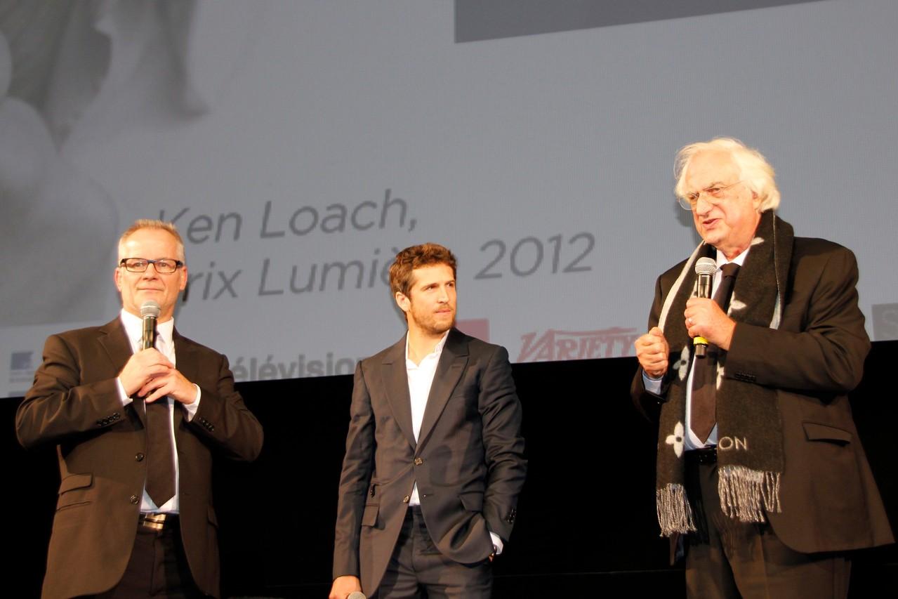 Thierry Fremaux, Guillaume Canet et Bertand Tavernier - Festival Lumière 2012 - Lyon - Photo © Anik COUBLE