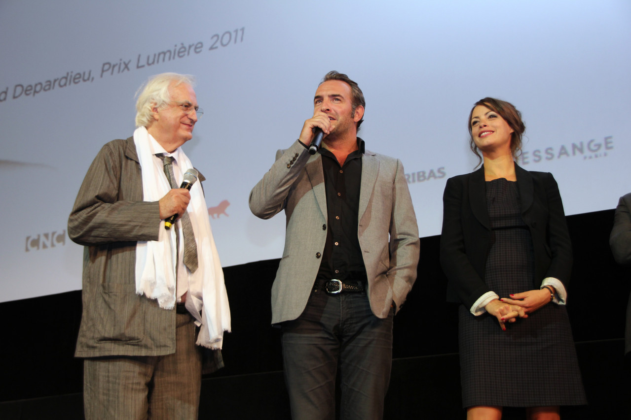 Bertrand Tavernier, Jean Dujardin et Bérénice Bejo - Festival Lumière 2011 - Lyon - Photo © Anik COUBLE