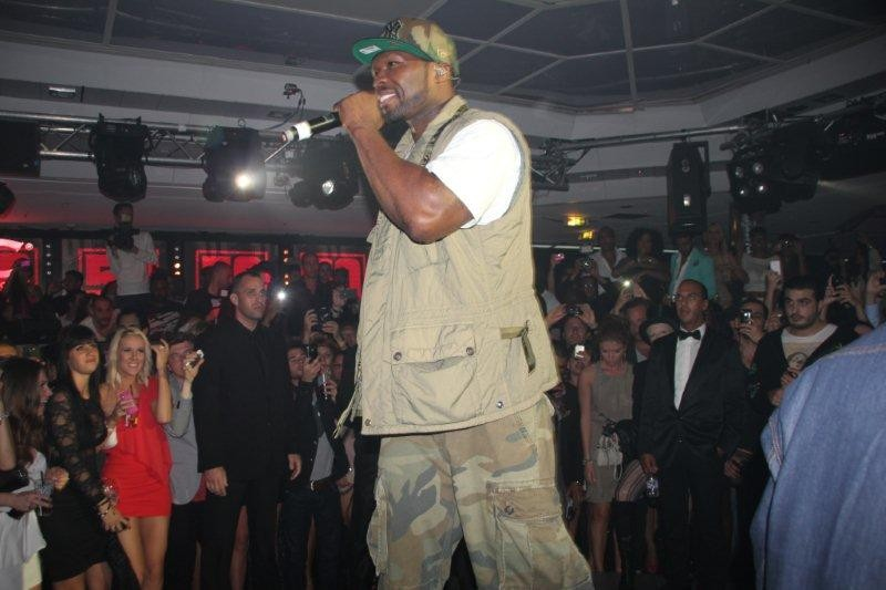 50 Cent, au VIP ROOM, chez Jean Roch - Festival de Cannes 2012 - Photo © Anik Couble