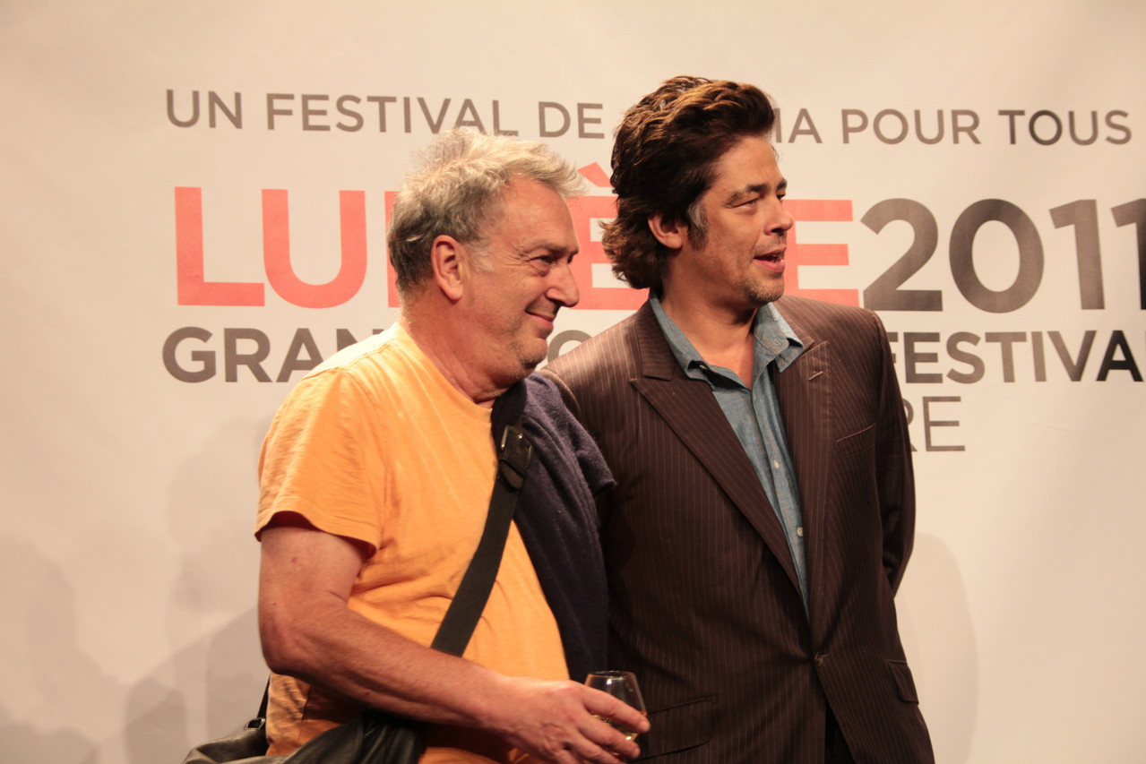 Stephen Frears et Benicio Del Toro - Festival Lumière 2011 - Lyon - Photo © Anik COUBLE