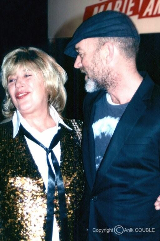 Marianne Faithfull et Michael Stipe chanteur du Groupe R E M  2005  / Photo : Anik Couble