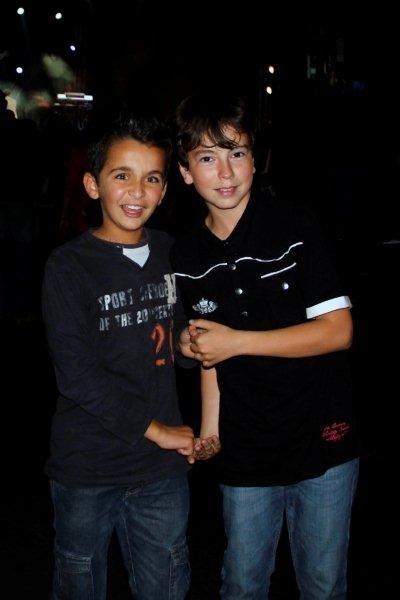 Alan Badaoui-Couble et Marwan Boulaghlem, lors du Foot-Concert de Lyon, le 13/10/2012 © Anik COUBLE